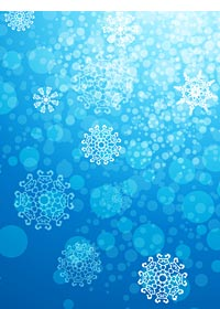 Graphics of snow flakes